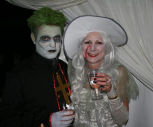 fancy dress couple
