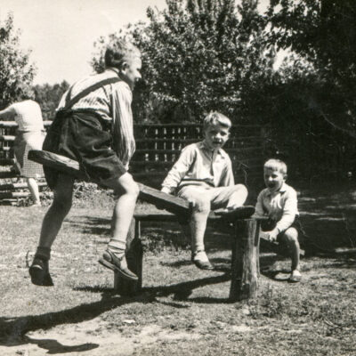 Children on See Saw